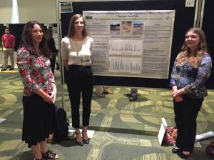 Kristen Langanke, Jeannie Mounger, and Sandy Voors at the USF Undergraduate Research Colloquium.